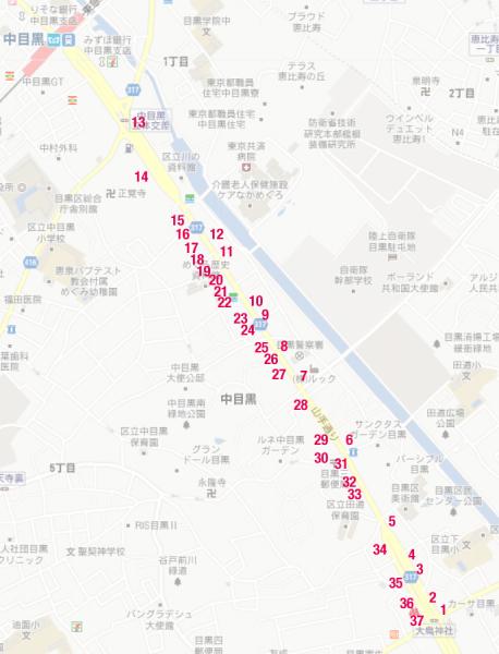 目黒スポットマップ