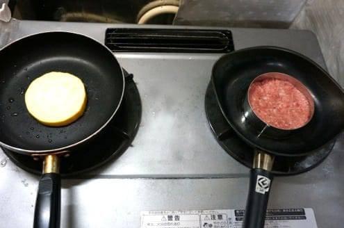 パテとズッキーニのステーキ
