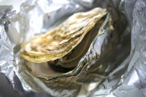 開いた牡蠣
