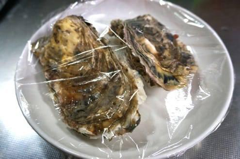 レンジで蒸し牡蠣
