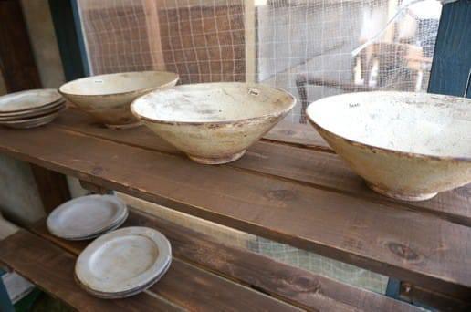 白いしぶい皿