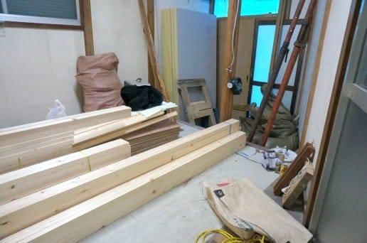 新規の木材投入