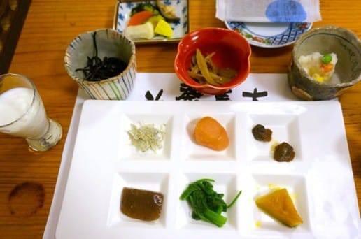 帆山亭の朝の食事