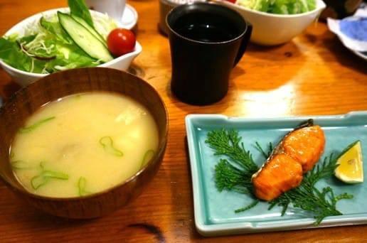 帆山亭の朝の食事2