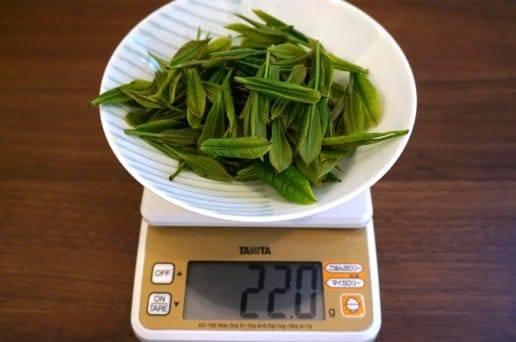 22グラムの茶葉