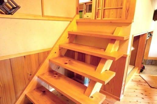 帆山亭の山望の湯の小上がり階段