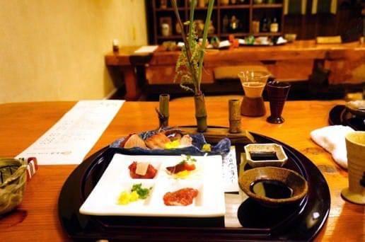 帆山亭の夕食お刺身セット
