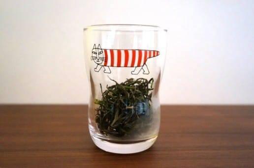 コップに入れてみた茶葉