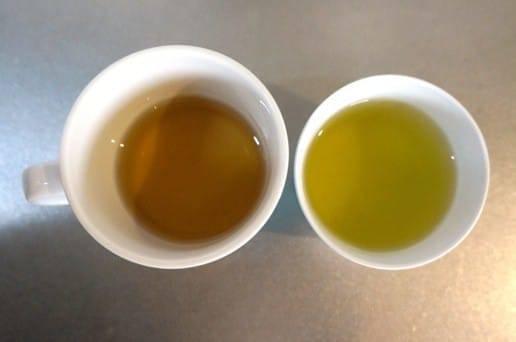 自家製の緑茶と比較