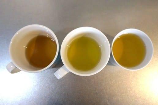 3種の緑茶の比較