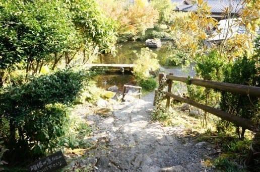 黒川温泉の帆山亭の庭園
