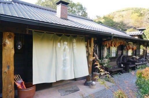 黒川温泉の帆山亭のエントランス