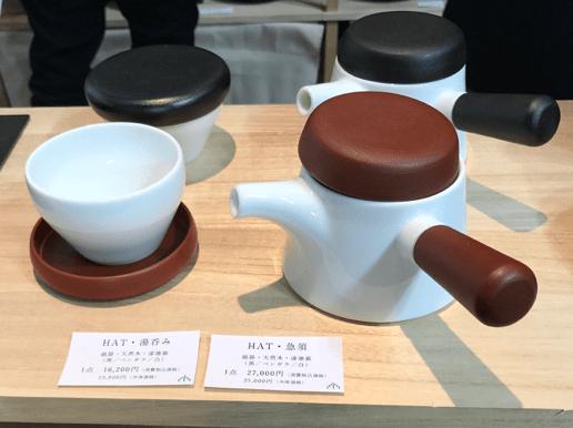 漆器と陶器のモダンな急須