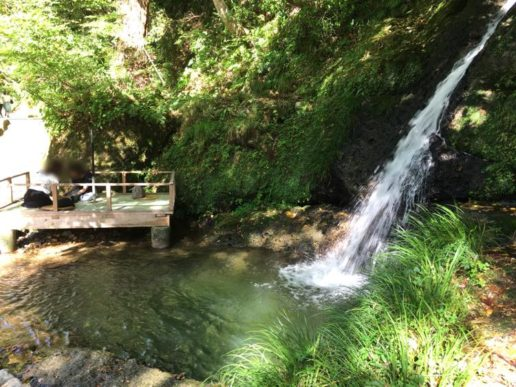 鶴仙渓 川床 滝