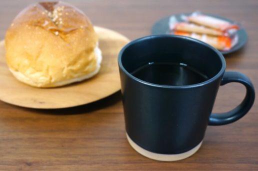 eni黒マグでコーヒー
