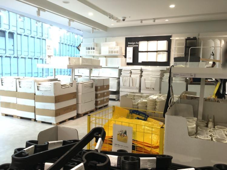 IKEA渋谷3階ハンガー