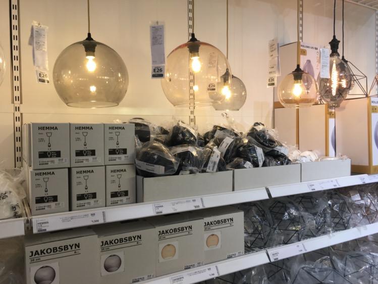 IKEA渋谷 電球コーナー