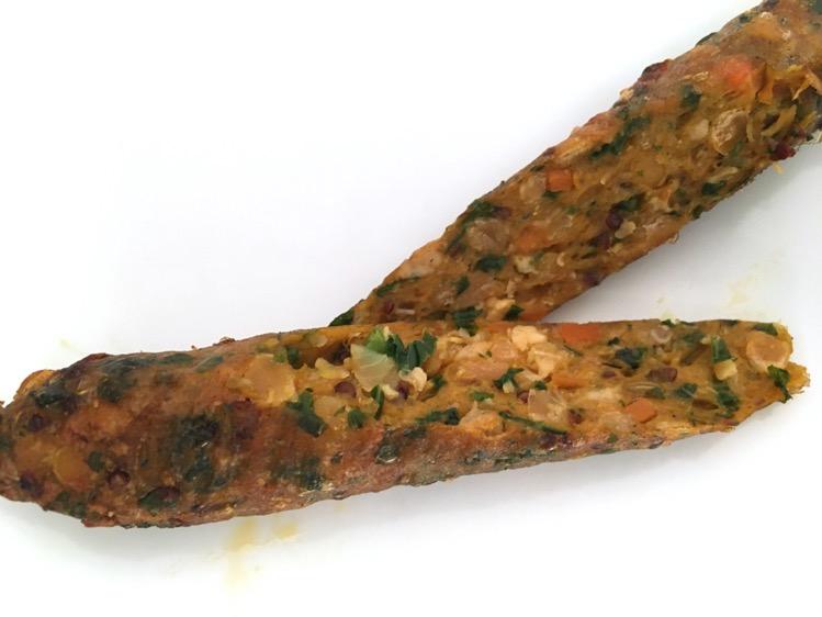 野菜ホットドッグソーセージの断面